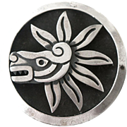 Cheo Taxco Feathered Serpent Pin Pendant