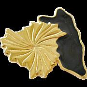Leaf Brooch Pendant Hinged Bale