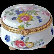 Porcelain Trinket Box with Roses