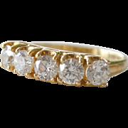 Ring Band Diamonique Cubic Zirconia 14K Gold