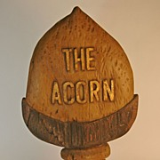 "REDUCED ""The Acorn"" Wooden Trade Sign"