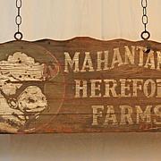 Mahatango Hereford Farms Trade Sign