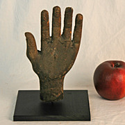 SALE Folk Carved Wooden Hand