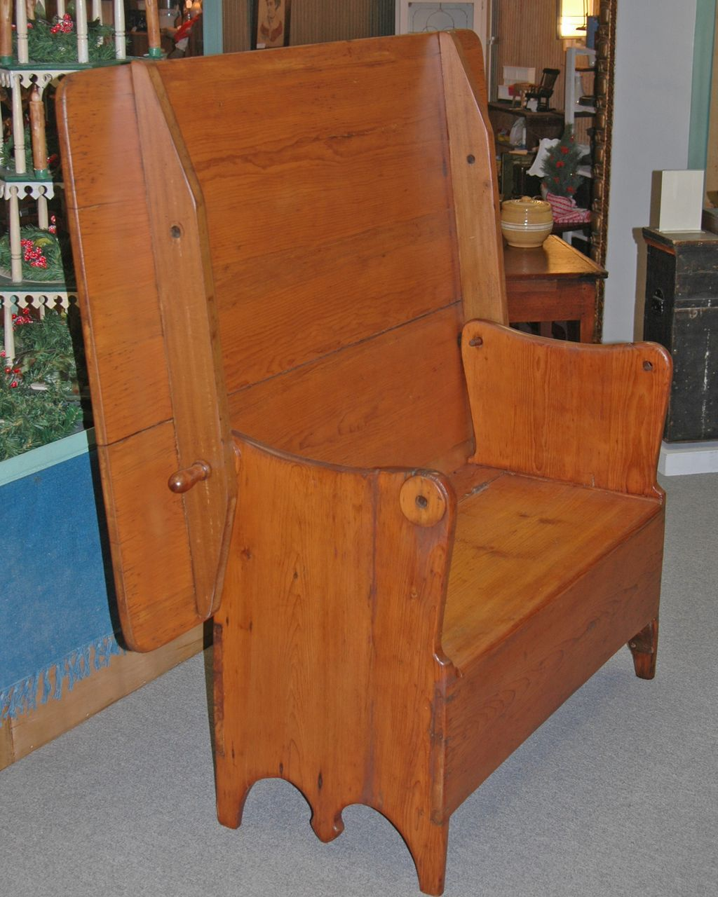 Early Pine Hutch Table