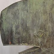 Copper Whale Weathervane