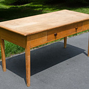 19th Century Pine Farm Table