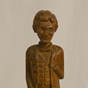 REDUCED Folk Carved Abraham Lincoln Statue
