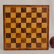 Inlaid Wooden Checker Board