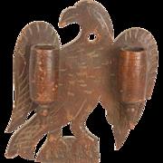Carved Walnut Match Holder