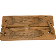 Hand Carved Wooden Fish Mold