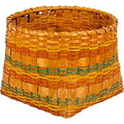 New England Decorated Indian Basket