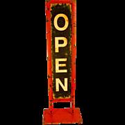 "Metal ""Open"" Driveway Sign"