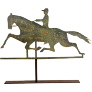Horse and Rider Sheet Metal Weathervane