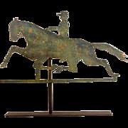 Horse and Rider Sheet Metal Weathervane