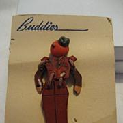 SALE Buddies Military Soldier Pin/Brooch on Original Card