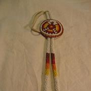 Beaded Rope Thunderbird Bolo Tie
