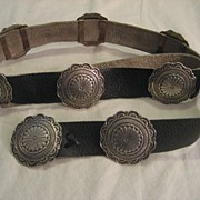 Sterling Silver Vintage Concho Belt by Navajo Artist Albert Platero