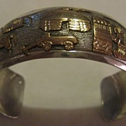 Sterling Silver & 1/20 12K GF Storyteller Bracelet by T. A. Begay