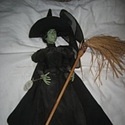 """SALE Wizard Of Oz Porcelain 12"""" tall Wicked Witch"""