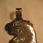 Sterling Stamped Eagle Pendant