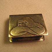 Alpaca Silver Cowboy Hat Pill Box