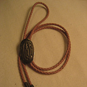 Sterling Silver Bolo Tie With Pink Lanyard