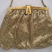 Whiting & Davis Gold Tone Mesh Evening Bag