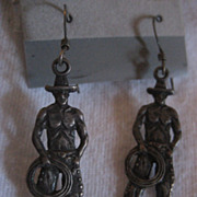 Sterling Silver Cowboy Earrings