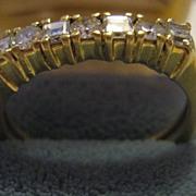 18K Gold & 7 Diamond Vintage Ring
