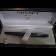 Waterman Marbled Blue Fountain Pen In Box