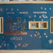 Virgo Calendar Count Vintage Security First National Bank