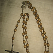 Rosary Crucifix With Wooden Beads