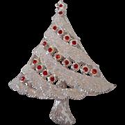 Christmas Tree Rhinestone Pin