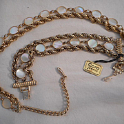 Coro Mother Of Pearl Vintage Necklace & Bracelet