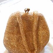 Walborg Gold Beaded Vintage Evening Bag