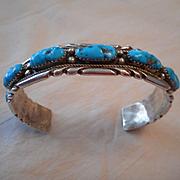 Sterling Silver Turquoise Zuni Vintage Bracelet