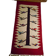 Chimayo Wool Vintage Tree Of Life Framed Rug