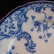 SALE Victorian Antique Flow Blue Plate, Marie, W.H. Grindley & Co. Ltd.