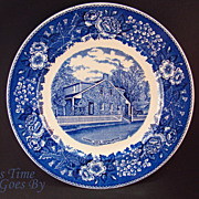 SALE Staffordshire Commemorative Plate -Lee's Headquarters, Gettysburg, PA