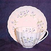 Shelley Blue Rock Ludlow Cup & Saucer