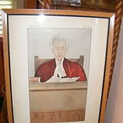 "SOLD Vanity Fair ""The Umpire"" Judge print 3-28-1885"