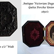 SOLD Antique Victorian Daguerreotype In Highly Ornate Ornate Gutta Percha Union Case