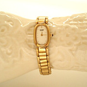 SALE Elegant Vintage Ladies Citizen Watch Gold Bracelet Perfect Working Condition