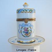 "SALE Gorgeous Vintage Limoges France Porcelain Hand Painted ""Royal"" 2 Pc Smoke Set"