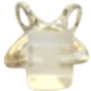 Vintage ICE & Tong Sterling Silver Charm Faceted Lucite Bead Detail
