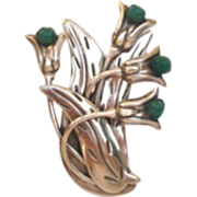 Vintage Taxco Mexico 950 Silver Signed Floral Bouquet Brooch Pin
