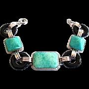 RARE Ostby Barton Art Deco Sterling Silver Vintage Bracelet