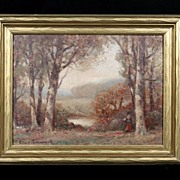 Early 20th Century American Tonal Landscape, Unreadable Signature,