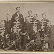 Cabinet Card Scottish/American Musicians by Root Studios