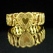 SALE Vintage American Queen Sweetheart Bracelet by Pitman Keeler